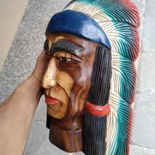 Statue Decoration Carving-Decor Wood Indian Figurine for A826 Sales