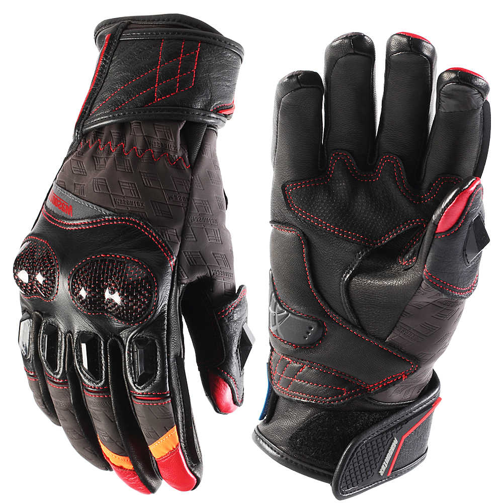 Masontex Motorcycle Heated Gloves for Men Leather Snow Mittens Hand Warmers with Battery