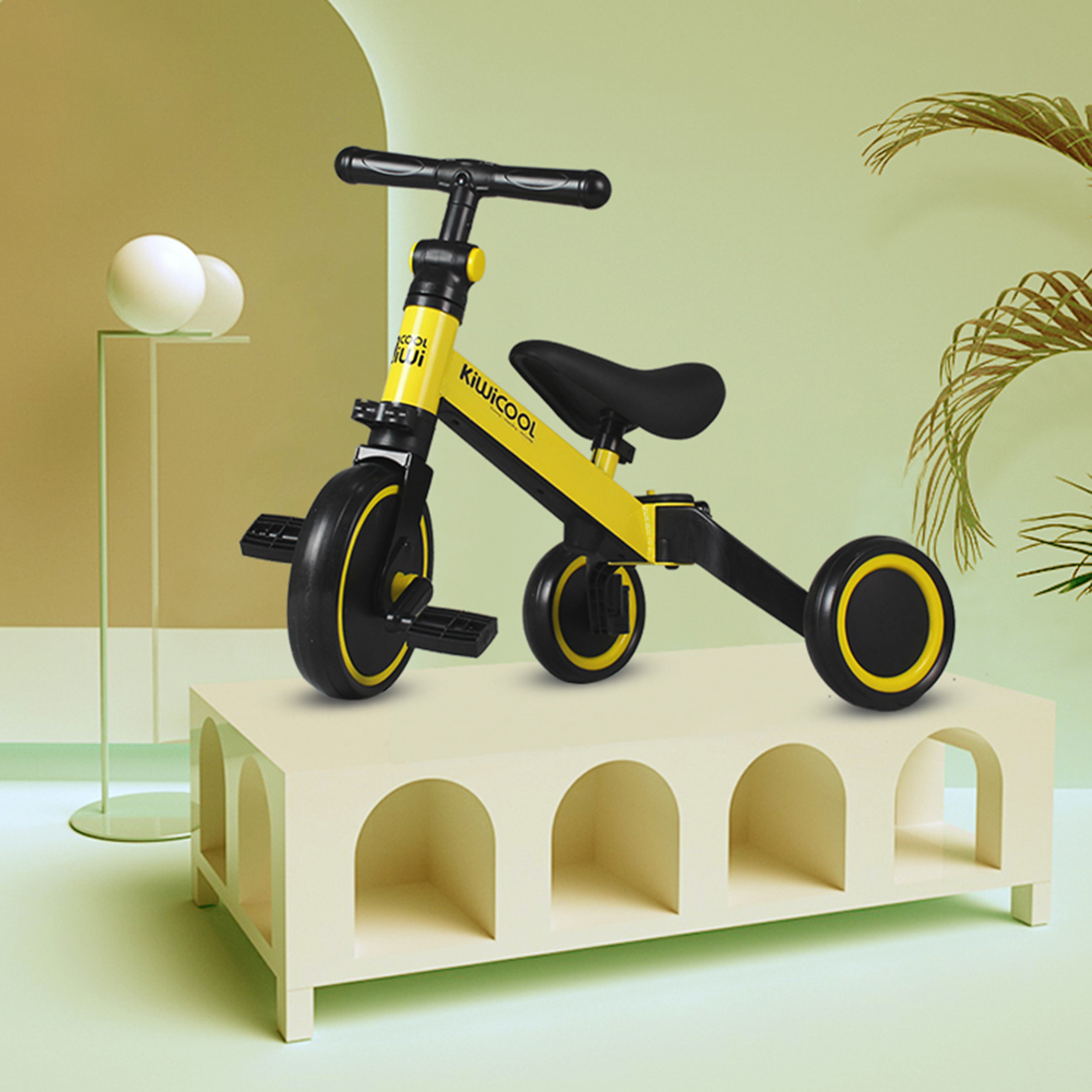 Balance Bike Bicycle Walker Trike Toddler Carbon-Steel Baby Outdoor Kids Riding for 1-4-Year-Old title=
