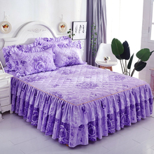 Skirt Bedspread Bed-Cover Wedding-Housewarming Double-Lace Thicken Yes for Gift