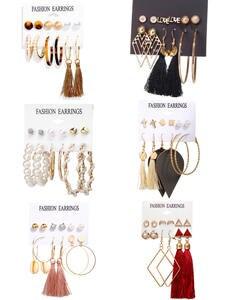 17Mile Tassel Acrylic Pearl Earrings For Women Bohemian Earrings Set Big Drop Drop