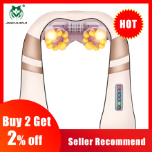 Jinkairui Neck-Massager Shiatsu Healthcare Kneading U-Shape Back Electrical Body-Shoulder
