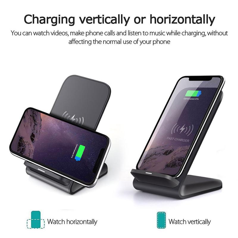 Electronics - Mobile Phone Wireless Chargers 15W Qi Wireless Charger Stand For iPhone Samsung Fast Charging Dock Station Phone Charger FDGAO