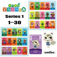 Карта-Кроссбоди для животных Amiibo Card 1-30 NFC Card Marshal 3DS, игровой Набор для nintendo switch NS Games series 1 2 3 4(1-30)(Китай)