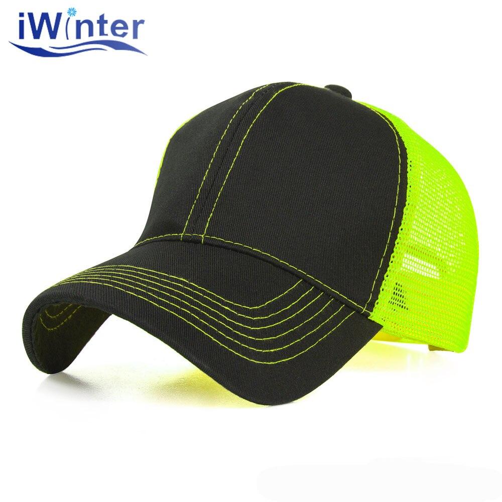 Unisex Mens Womens Fluorescent hat Color Neon Trucker Cap