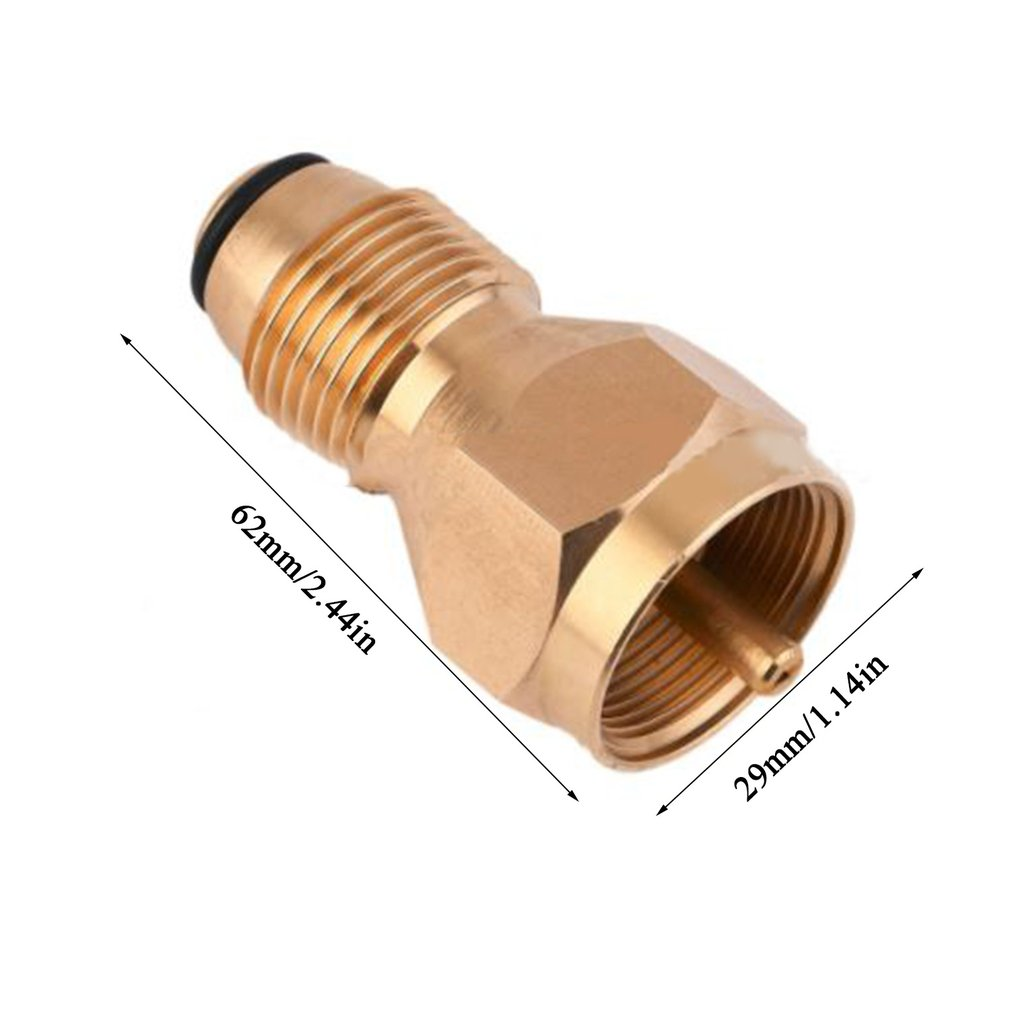 GLP - Cilindro Plano - Adaptador de Botella para Grabar Vaorwne Calentador de Gas para hornillo de Camping Adaptador de llenado de propano