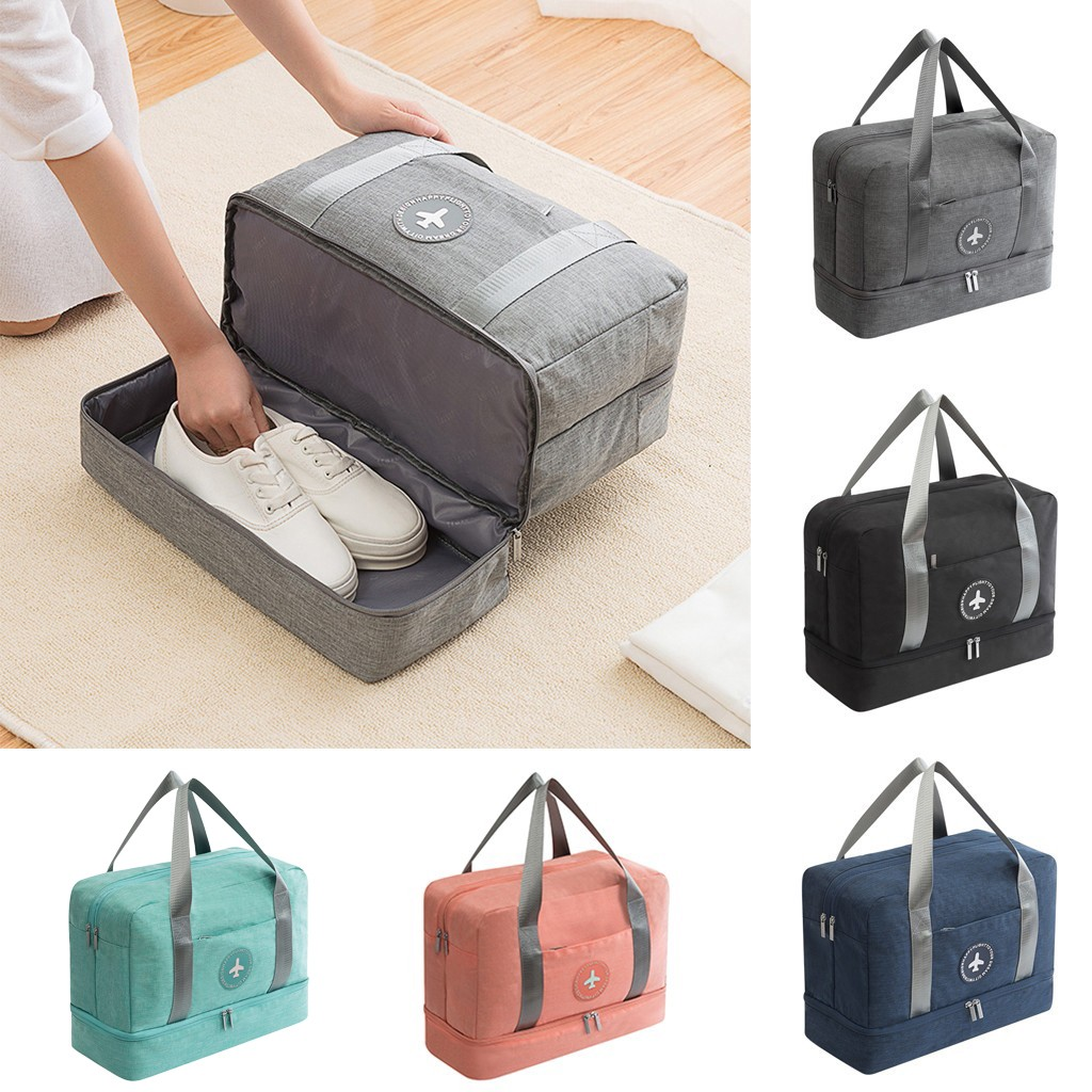 Travel-Bag Shoes Bag Luggage Big-Carry Waterproof Women for Man on Dry-Wet Separation title=