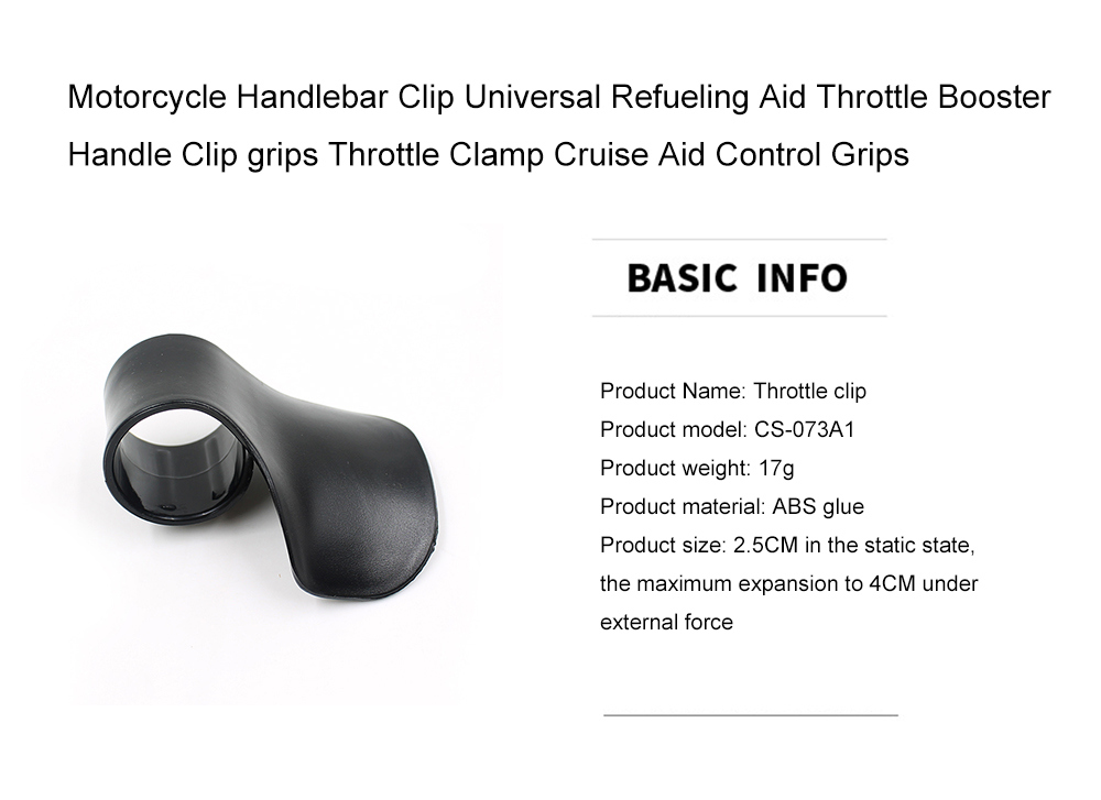 Motorcycle Throttle Handle Holder Clamp,Cruise Aid Control Grips Handlebar Refueling Aid Throttle Booster,Hand Rest Control Grips for Handle Bar