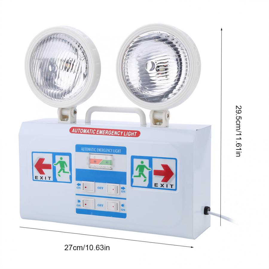 Double Head Indicator LED Light Wall-mounted Blackout Safety Emergency Exit Lamp