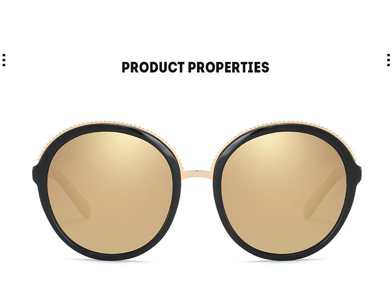 Women Sunglasses Frame Glasses Polariod Lens UV400 Polarized Sunglasses Women Fashion Round Frame Eyewear Glasses (14)