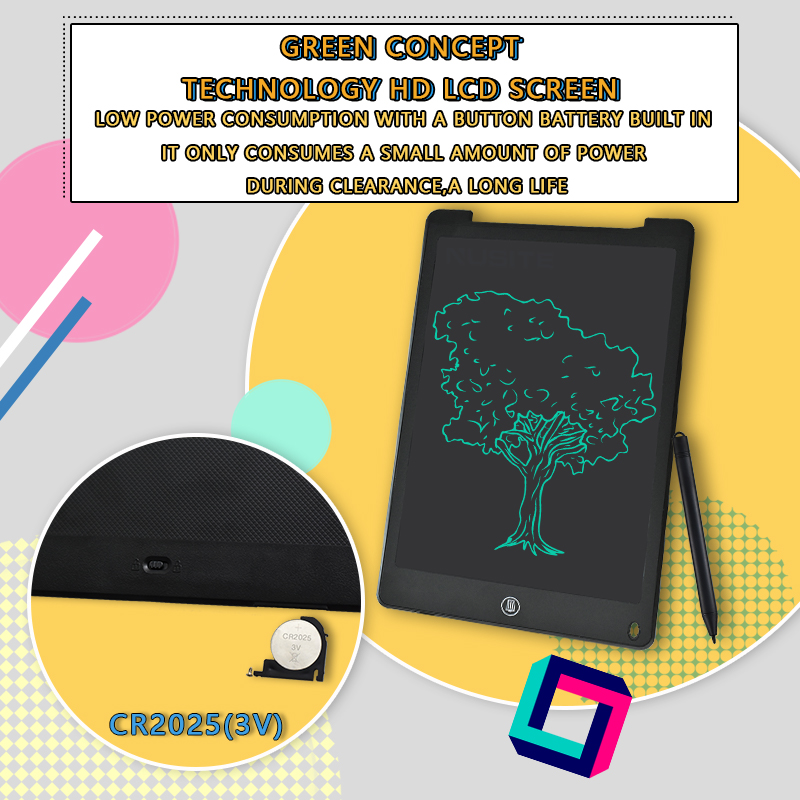 12 Inch LCD Writing Tablet Electronic Drawing Doodle Board Digital Colorful Handwriting Pad Gift for Kids and Adult Protect Eyes 5