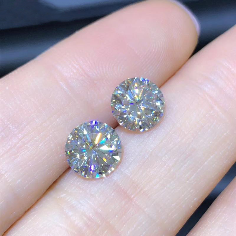 Loose Diamond Ring-Material Grown Moissanite-Stone Ij-Color VVS1 Round Lab 2PCS 5mm Cut title=