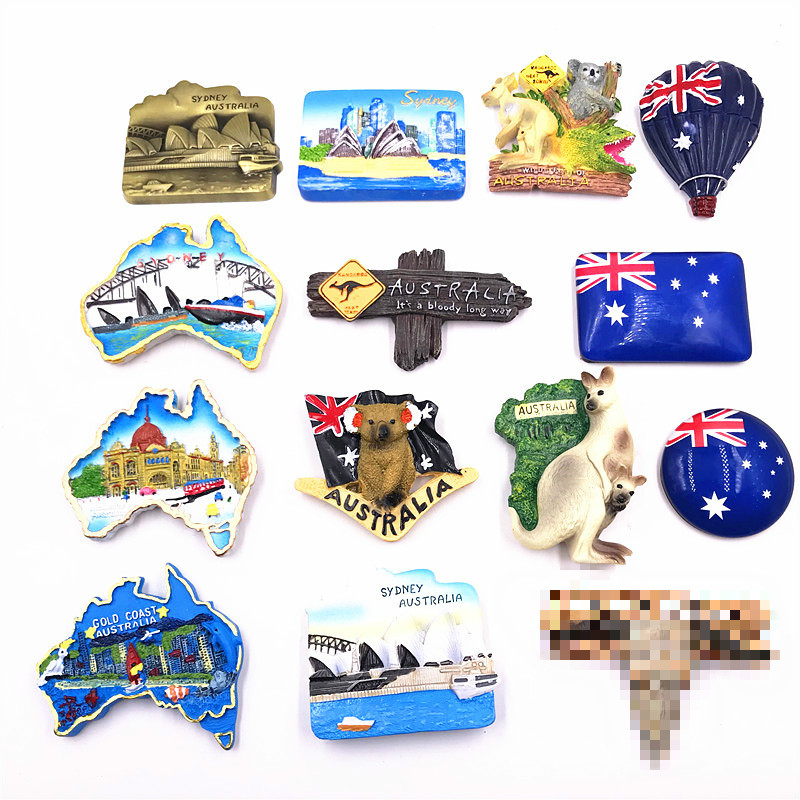 Australia BRISBANE Travel Souvenir Flexible Fridge Magnet