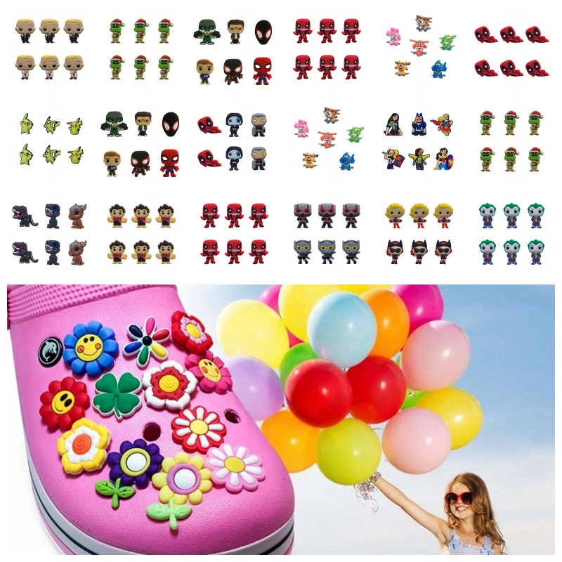 50pcs Trolls PVC Shoe Charms Accessories for holes on Shoes Bag Bracelet as Gift