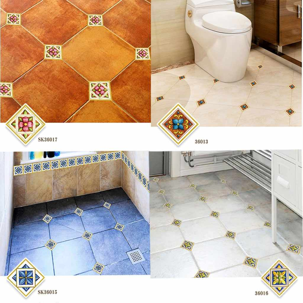 Self Adhesive PVC Ceramic Tile Stickers Waterproof Wall Sticker Floor Stickers