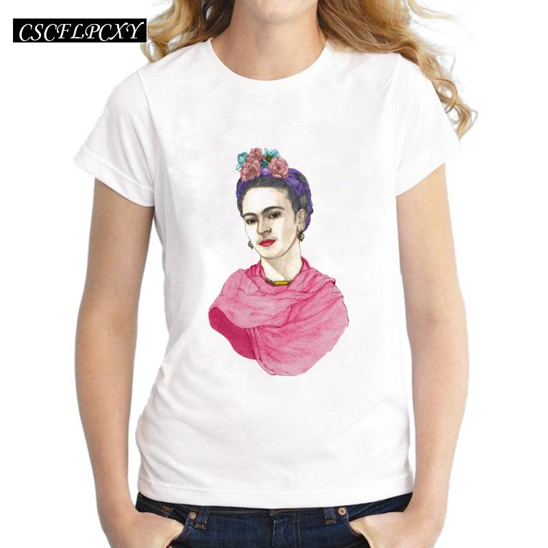 Asian-Size-Frida-Kahlo-simple-drawing-women-t-shirt-Frida-Fest-printed-short-sleeve-casual-lady (1)