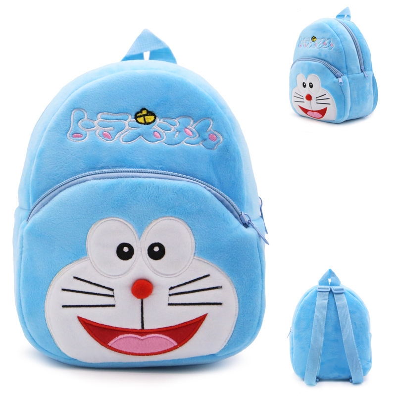 New cute cartoon kids Doraemon plush backpack toy mini school bag Children's gifts kindergarten boy girl baby bags for 1-3Y title=