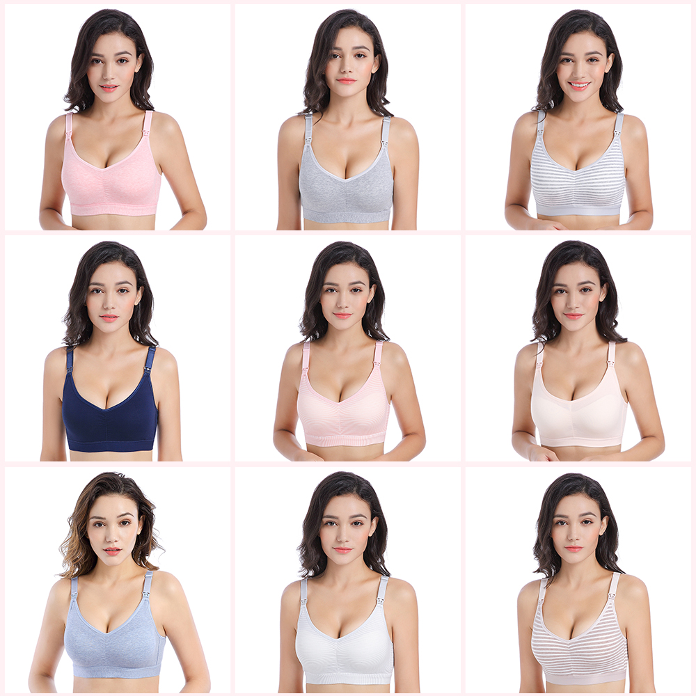 Cotton Maternity Nursing Bra  for feeding Open Buckle BreastFeeding Prevent Sagging bras for Pregnant Women Pregnancy Clothes
