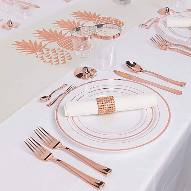 9oz disposable transparent hot rose gold cup (4)