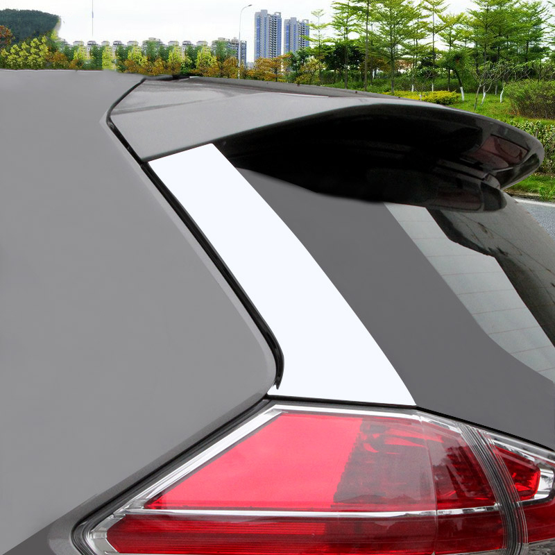 For Nissan Rogue X-Trail 2014-2019 Chrome Rear Window Spoiler Pillar Cover Trim
