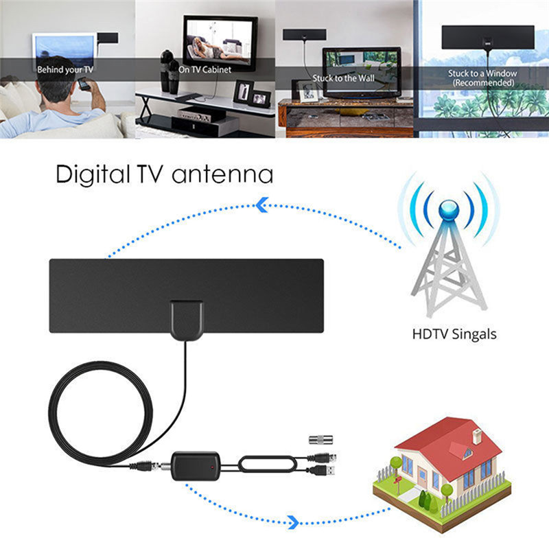 3m 5DBI HD Digital TV Antenna DVB-T/DVB-T2 HDTV Television Antenne With Coaxial Cable Support 1080p HD Mode