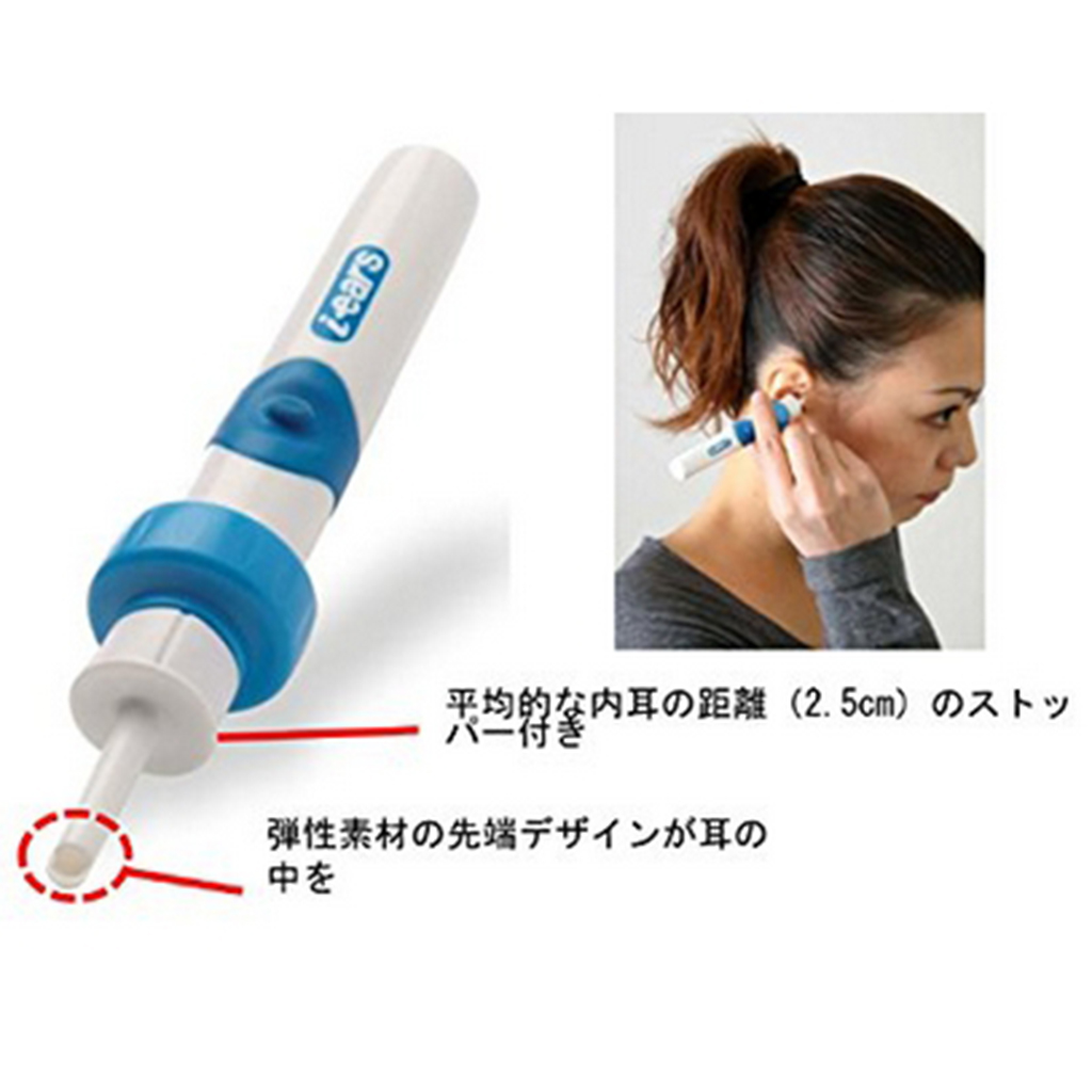 Electric Cordless Vacuum Ear Cleaner Wax Clean Remover Painlessly Tool Ear Wax Remover Spiral Ear-Cleaning Device Wax Earpick