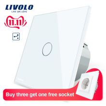 Livolo Wall-Switch Control Touch-Screen-Switch Glass-Panel Standard 2-Way Vl-c701s-1/2/3/5