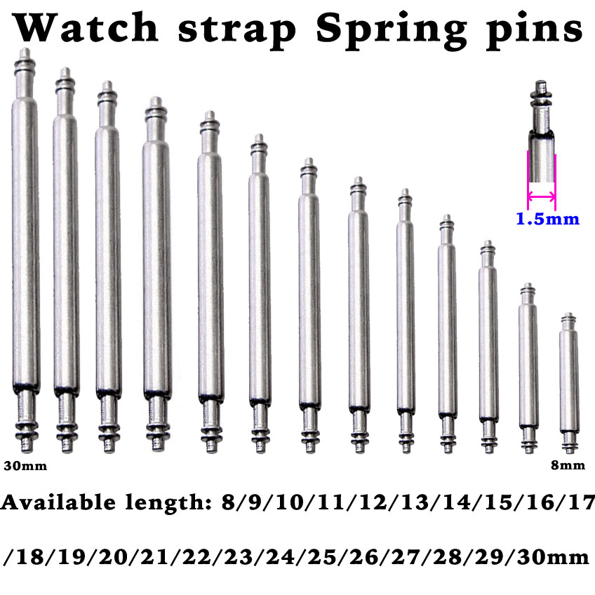 8 to 16 17 18 19 20 21 22 23 24 25 26 27 28 29 30mm Spring Bar for Watch Band Strap Spring Pins Repair Tool Release Pin
