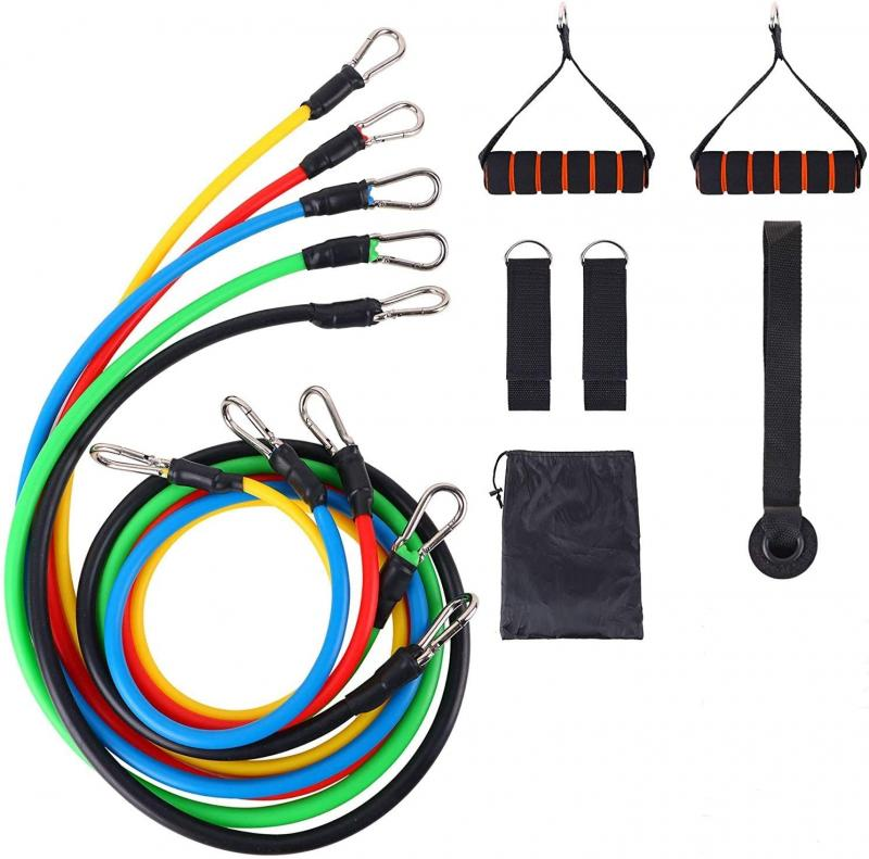 11pcs//set Pull Rope Fitness Exercises Resistance Bands  Long Fabric Latex Tubes