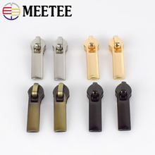 20pcs Meetee Zipper Sliders for 3# 5# Nylon Zippers Down Jacket Zip Head Bag Clothing Zips Repair Kits DIY Sewing Accessories