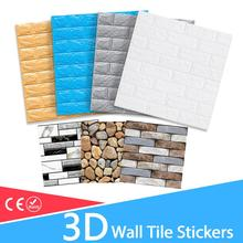 Background Wallpaper Sticker Brick Self-Adhesive-Decor Marble Living-Room Waterproof