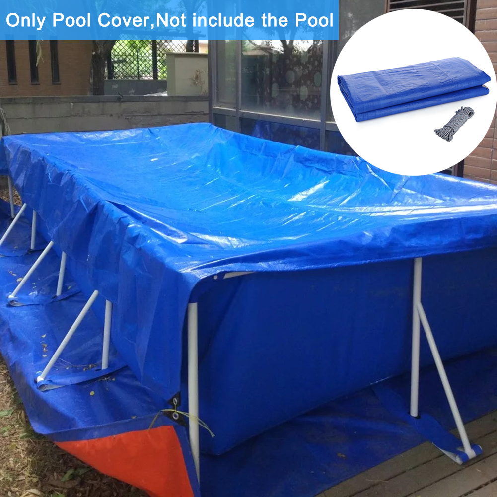 Dust And Debris Get In The Pool. For Prevent Leaves With Wear-resistant Rope To Fixe pologyase Rectangle Dust Rainproof Cover 220 150CM Swimming Pool Protection Cover