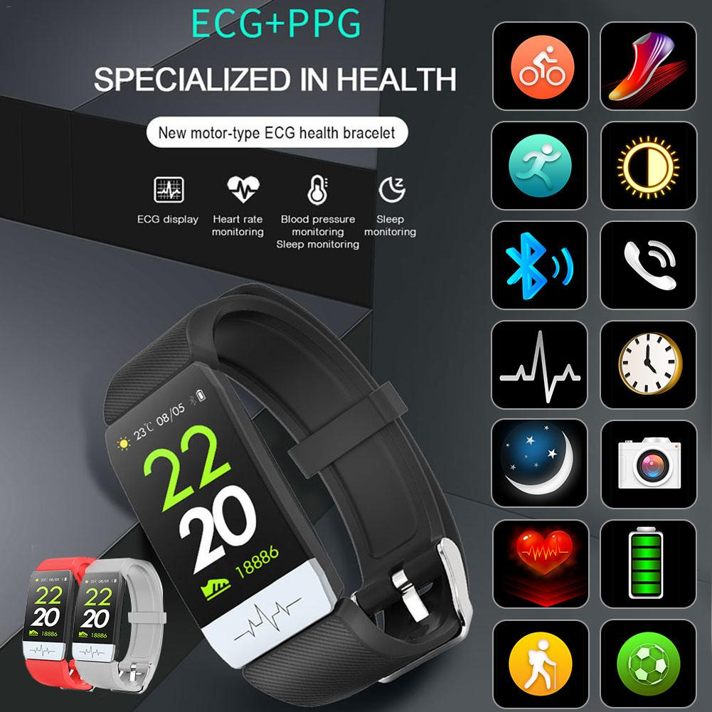 Tower - New Q1S Fitness Tracker ECG PPG Waterproof Heart Rate Monitor Smart Band Weather Forecast Smart Bracelet For IOS Android