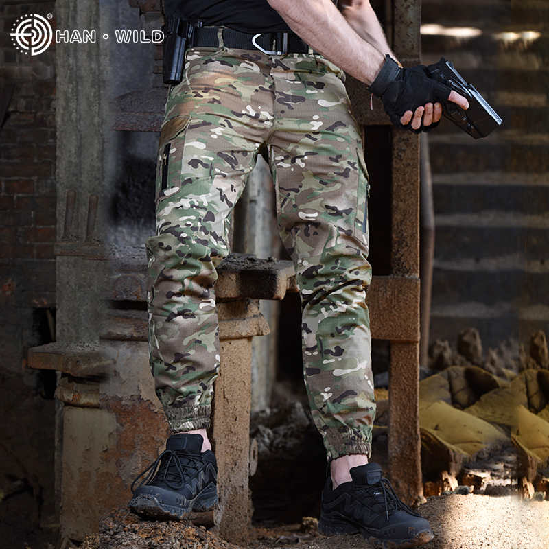 Camouflage Military Pants Men Multi Pocket Wearable Tactical Combat Pant Army Waterproof Special Cargo Trouser