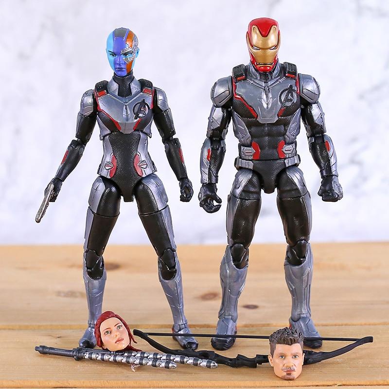 Marvel Legends Nebula Iron-Man Ant-Man Captain  America Heads Avengers Endgame