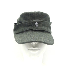 WWII WW2 German Elite EM WH Officer Wool Panzer M43 Field Cap Hat Army Green in size