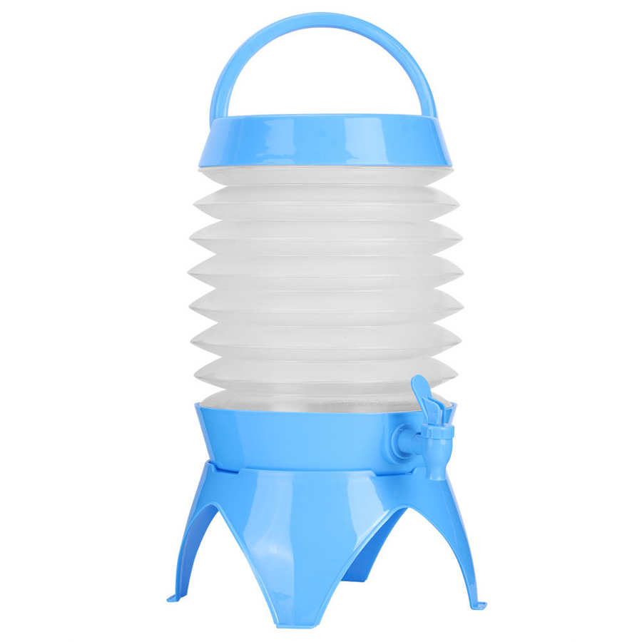 with Carry Handle and Tap Collapsible Drink Dispenser Folding Beer Jug Bucket 5L Portable Collapsible Water Carrier Container Holder Bucket Ideal for Camping and Garden Parties