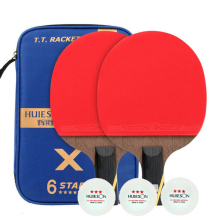 Table-Tennis-Racket-Set Rubber Carbon-Blade Ping-Pong-Rackets Double-Face Short-Handle