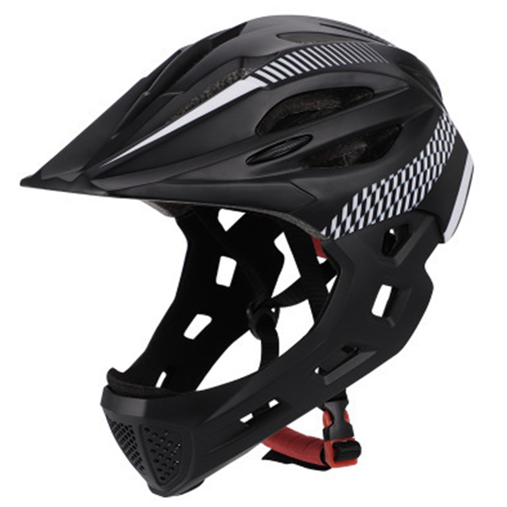 Bicycle Helmet Balance-Bike Protective Cycling Full-Face Children Rear-Light Chin  title=