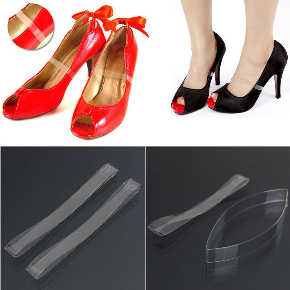 1pair / 2pairs Silicone Invisible Elastic Transparent Shoelaces For High Heel Shoes Clear Shoe Laces Straps Shoes Accessories