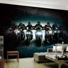 Wall-Murals Theme-Bar Motorcycle Background Living-Room Home-Decor Creative 3d for Photo-Wallpaper