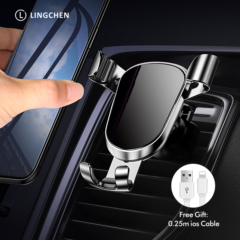 LINGCHEN Gravity Car Phone Holder For iPhone 11 Pro X Xs Air Vent Mount Phone HolderStand for Xiaomi Samsung Mobile Phone holder title=