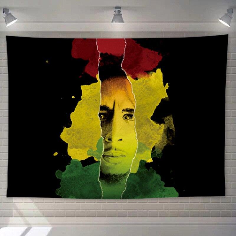 Dessu de lit et Tenture Rastafari Jamaïque | Rasta-Lion