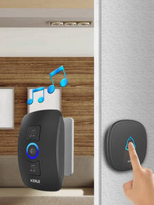 KERUI Wireless Doorbell Chimes Led-Light Waterproof Smart Home with 32 Touch-Button