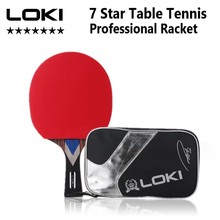 Paddle Racket Table-Tennis-Racket Gtx-Rubber Ping-Pong Offensive Professional Lokim 7