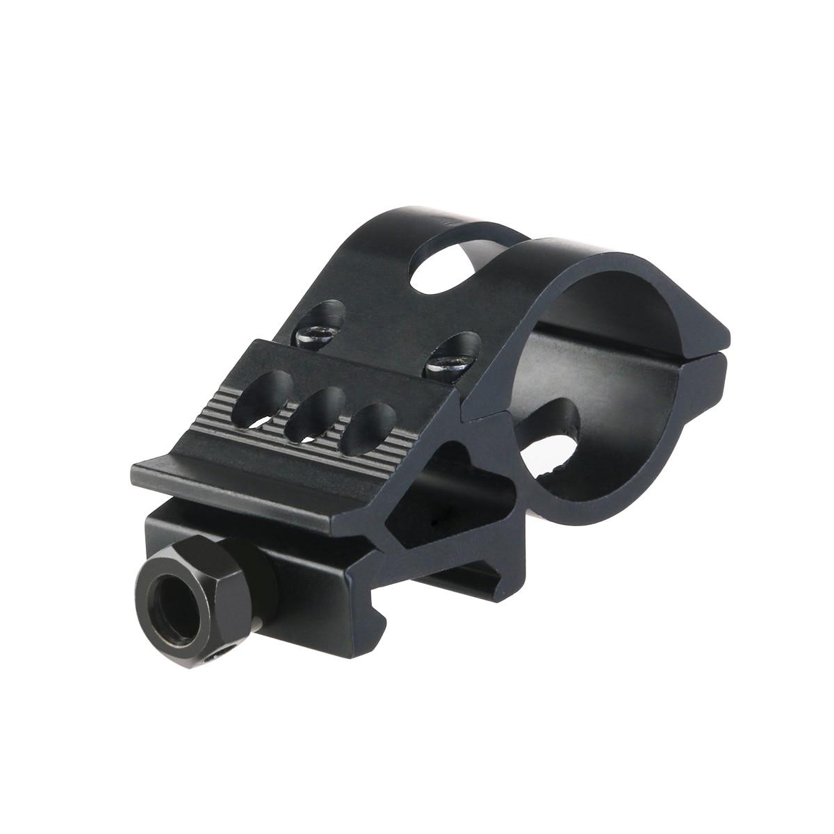 1pc 25mm LED Light Torch Mount Clamp Stand Holder Flashlight Offset Gun Mount