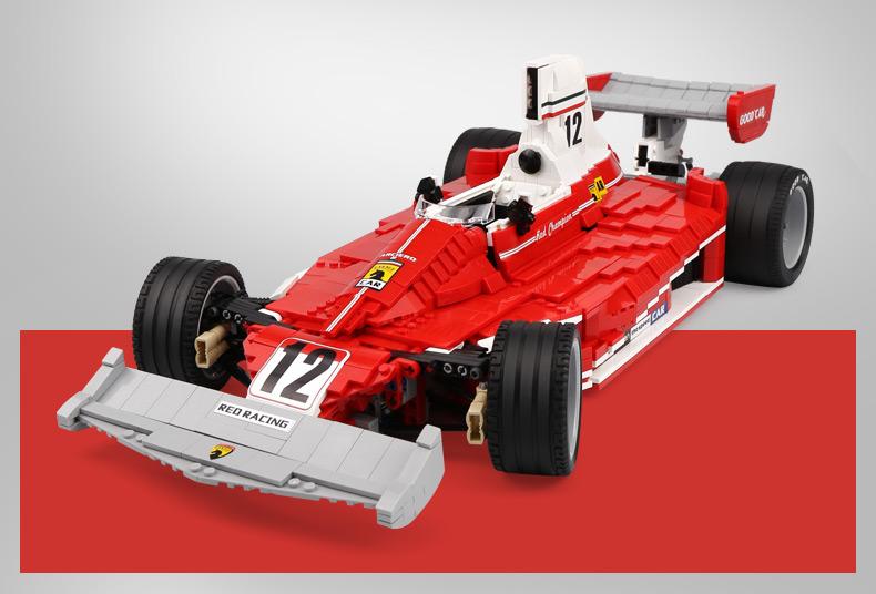 XingBao XB-03023 Red Power Racing Car Ferrariii 312T Building Block 37