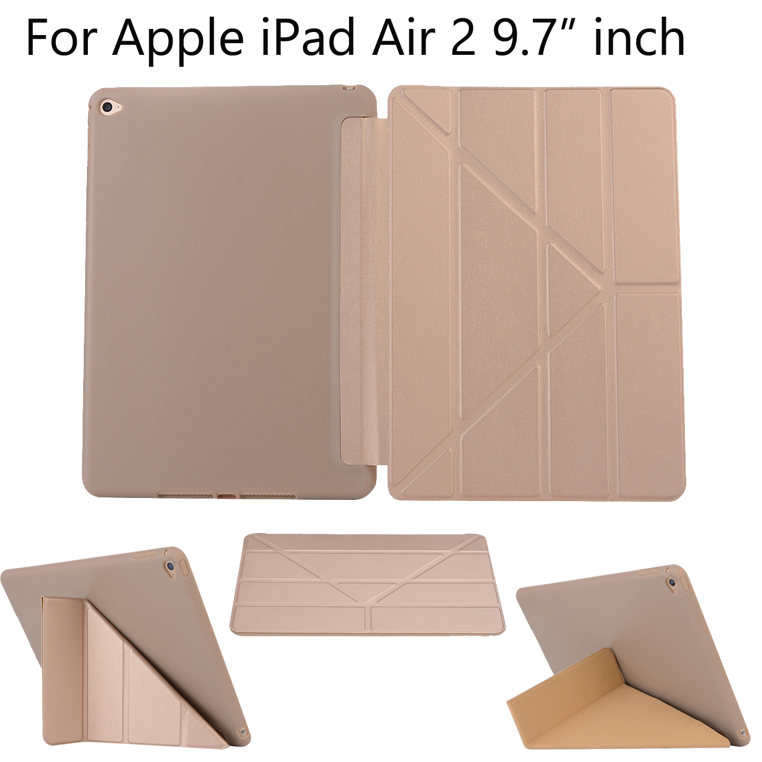 Soft Tablet Cover Case For Apple IPad Air 2 New Smart Holder For Apple IPad Air 2 2014 A1566 A1567 Auto Wake Up Sleep Flip Shell