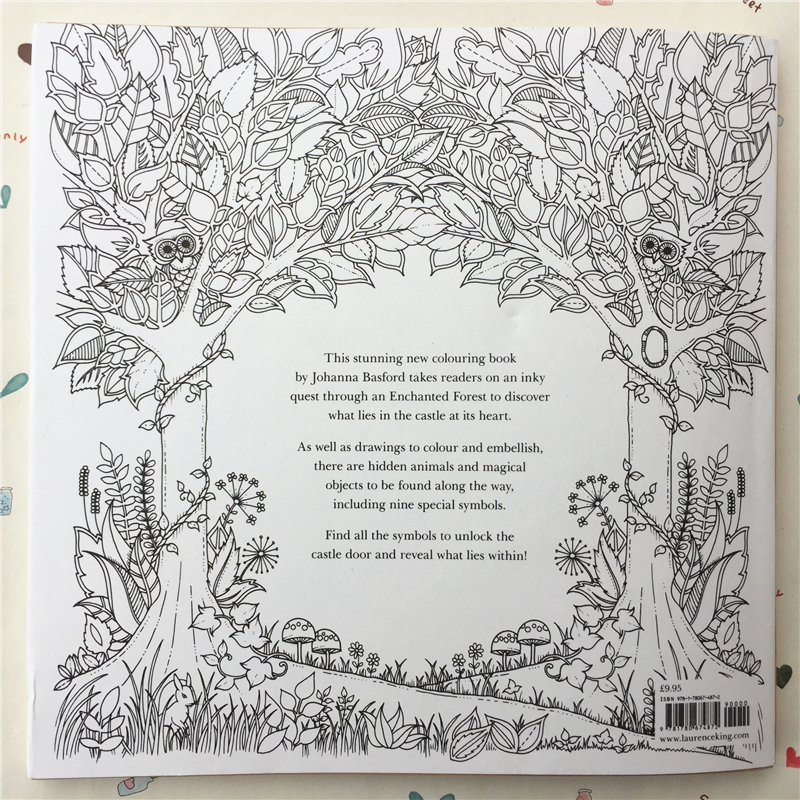 96 Pages English Secret Garden Decompression Coloring Books for Adults Kids Relieve Stress Kill Time Graffiti Drawing Wire Book