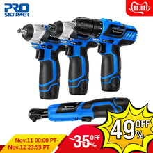 PROSTORMER Wrench Screwdriver Power-Tools Electric-Drill Cordless Household DIY 12V Series